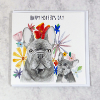French Bulldog Mothers day card