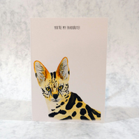 You're My Favourite Card, Serval Card, Wild Cat Card