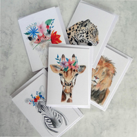 Wild animal card set