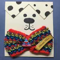 hand Knitted Bow Tie for pets