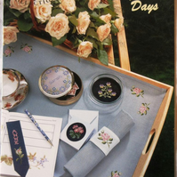 Floral Days: a DMC Collection booklet containing 18 cross stitch charts