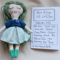 Hand drawn doll making booklet