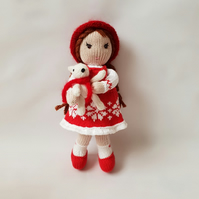 Knitted doll, Handmade decor for girls bedroom, Interior doll, Collection doll