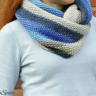 SALE Handmade scarf Knitted double wrap snood Woolen accessory for women