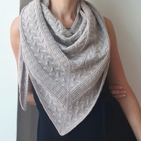 Hand knitted shawl Handmade merino wool shawl Shoulder wrap Gift for her Fashion