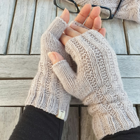 Knitted fingerless gloves Handmade mittens Hand warmers Gift for her Fashion