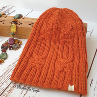 Hand knitted hat Women hat