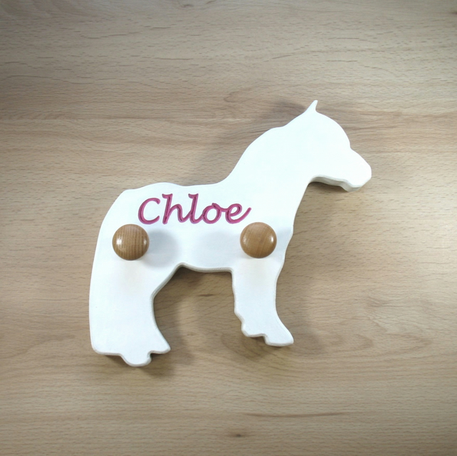 Horse Coat Hook - pick your colours - add an engraving