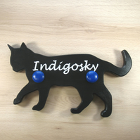 Cat Coat Hook - pick your colours - add an engraving
