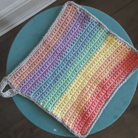3 x Rainbow washcloths with hook