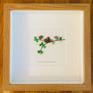 Pebble framed artwork: welcome to the world little one