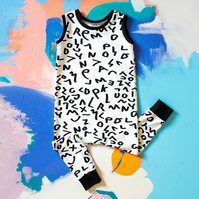 Monochrome Baby and Toddler Romper - Pull on Style Baby Clothing