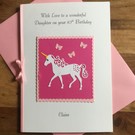 Unicorn Birthday Card 2nd 3rd 5th 6th 7th 8th 9th 10th 12th 13th 16th 18th 21st