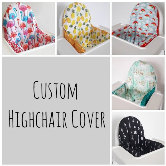 Custom Antilop Ikea Highchair Cushion Cover Bespoke Made To Order Fabric