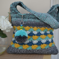 Eye Catching Mint and Mustard Shell Pattern Bag