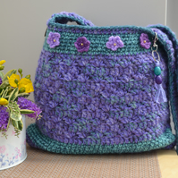Charming Lavender Bag With Flowers
