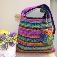 Cheerful Multi Colour Stripe Bag