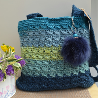Weekend Bag In Shades Of Sea Green & Blue