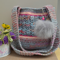 Weekend Bag In Shades Of Pink & Grey