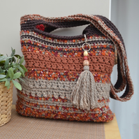 Chunky Brown & Rust Bag