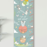 Personalised Height & Growth Chart - Curious Kittens - Luxury material & hanger