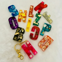 Initials Resin Bag Charms, Unique and Customised charms