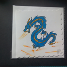 Greeting Card, dragon Handmade, Original Artwork  d101