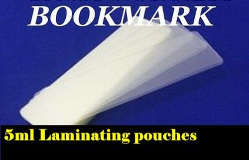 25 bookmark laminating pouches-wallets-sleeves 5ml size 2 X 6