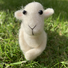 Ooak Needle Felted Sheep Lamb Ewe Handmade Sheep Needle Felted Animals
