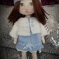 Handmade cloth doll original by Janet Powell