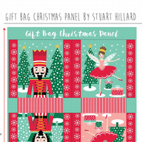 Nutcracker Christmas gift bag panel