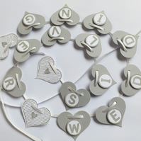 Heart Silver Wedding Banner