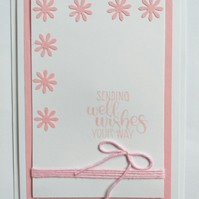 Sending Well Wishes (pink) Card