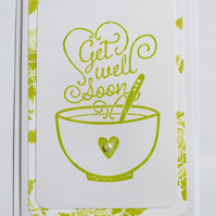 Get Well Soon (lime) Card