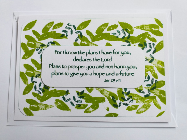 For I know the plans Card