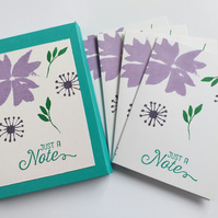 Violet Notecards (set of four in sleeve)