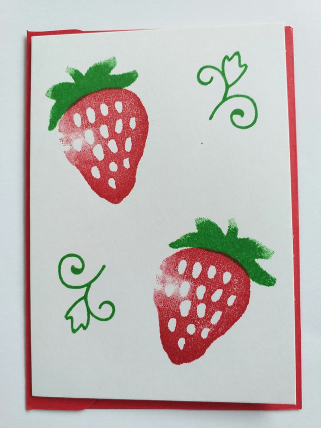 Juicy Strawberries Card