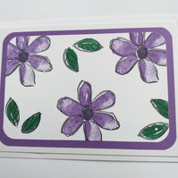Cheerful Flowers (purple) Card