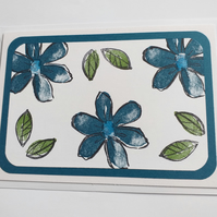 Cheerful Flowers (blue) Card