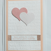 Wedding or Anniversary Card (Pink)