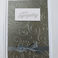 Grey Embossed Sympathy Card
