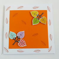 Autumn Leaves Button Card