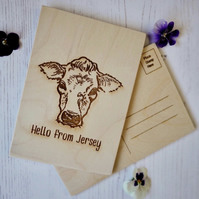 Wooden Hello from Jersey postcard