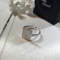 Textured Square Ring