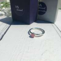 Pink Opal Cabochon Stacking Ring