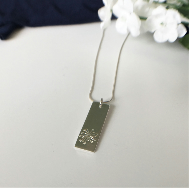 Dandelion Pendant Necklace - Sterling Silver