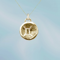 GEMINI astrological charm - ZODIAC pendant - ETHICAL jewellery - sterling silver
