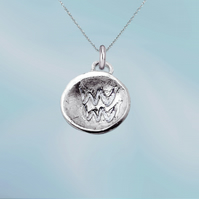AQUARIUS astrological charm - ZODIAC pendant - ETHICAL jewellery