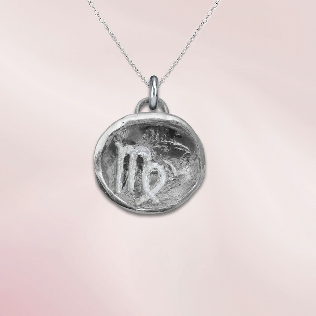 VIRGO astrological charm - ZODIAC pendant - ETHICAL jewellery - sterling silver