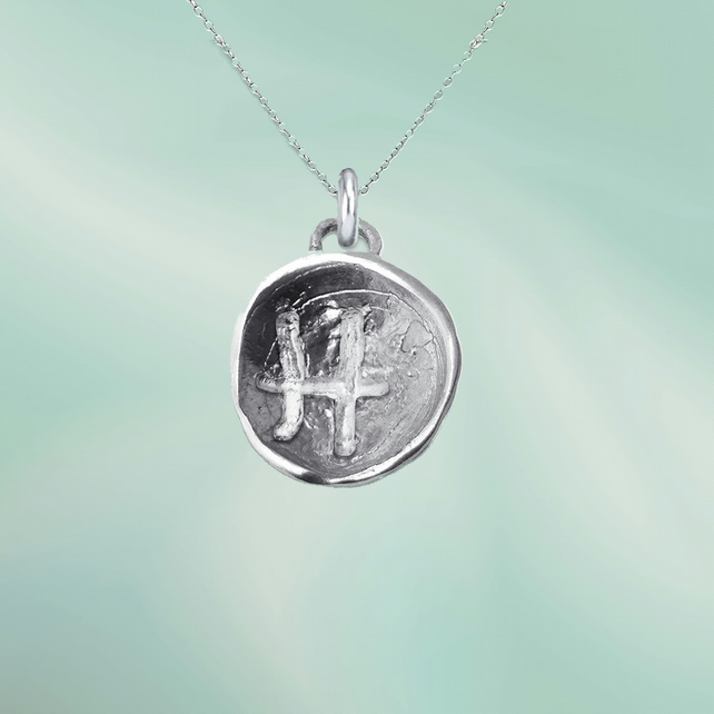 PISCES astrological charm - ZODIAC pendant - ETHICAL jewellery - sterling silver